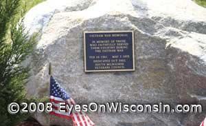 Vietnam War Memorial at South Milwaukee City Hall