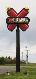 Extreme Fireworks Racine, WI sign