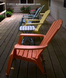 Adirondack Chairs at the Parkwood Lodge