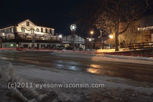 Christmas lights in New Glarus, WI