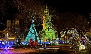 Christmas Lights Cathedral Park Milwaukee WI