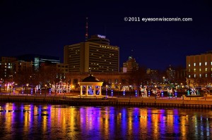 Christmas light at Pere Marquette Park Milwaukee Wisconsin
