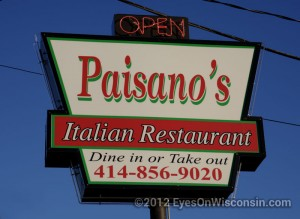 A photo of Paisono's Italian Restaurant sign