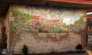 A photo of some of the artwork on the outside of Paisono's building