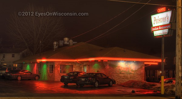 Night photo of Paisono's Italian Restaurant