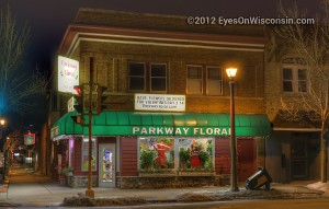 Photo of Parkway Floral at night