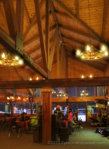 Photo of the interior of the Crystal Ridge lodge
