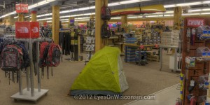 A photo of outdoor clothing and a tent at Laacke and Joy's Milwaukee