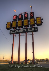 A photo of the Mars' Cheese Castle sign