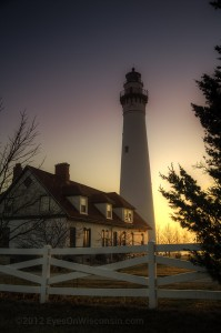 A photo of the Wind Point Lighthouse at Sunrise