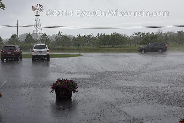 Rain in Door County Wisconsin